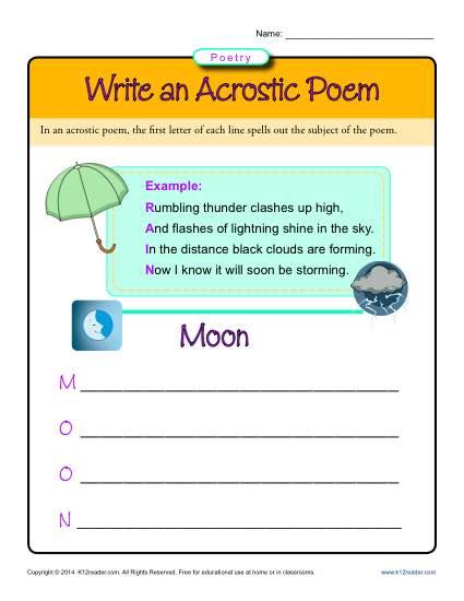 Write An Acrostic Poem