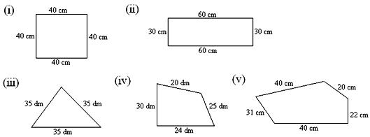 Worksheet On Perimeter Of A Figure