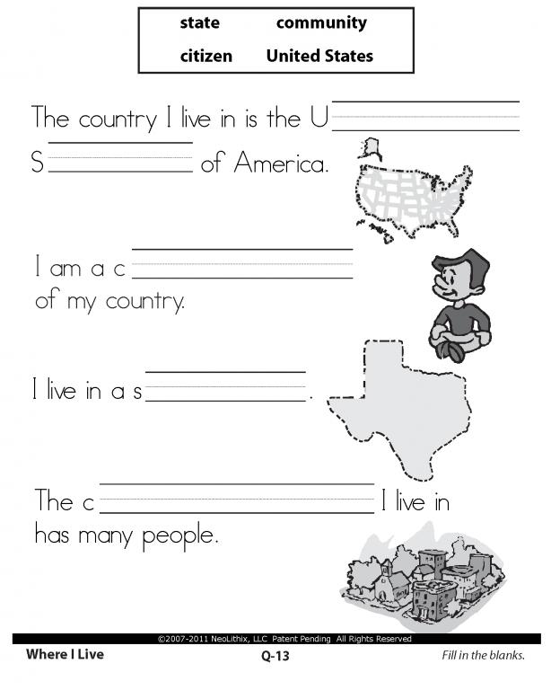 Sample 1st Grade Social Studies Citizenship