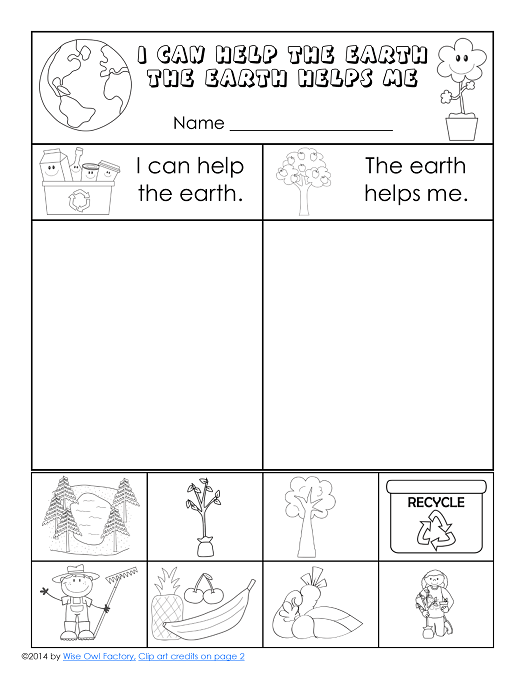 Free Earth Day Printable For K