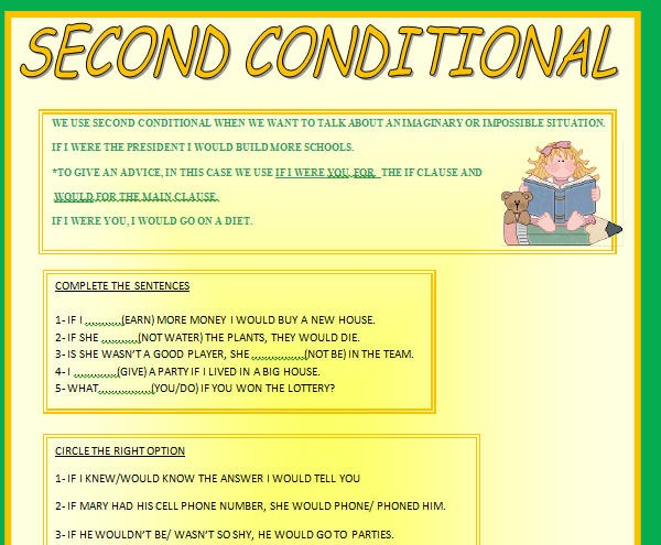 2nd Conditional Worksheet