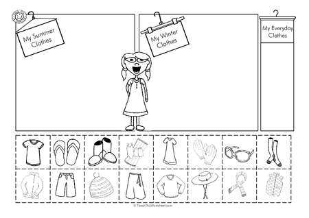 Seasonal Clothing    Teacher Resources And Classroom Games