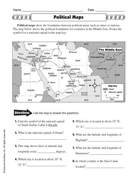 36 Inspiring Physical Map Worksheet 2nd Grade