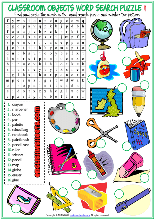 Fun Esl Printable Word Search Puzzle Worksheets With Pictures For
