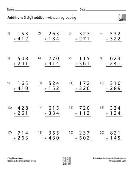 Addition Worksheet (set