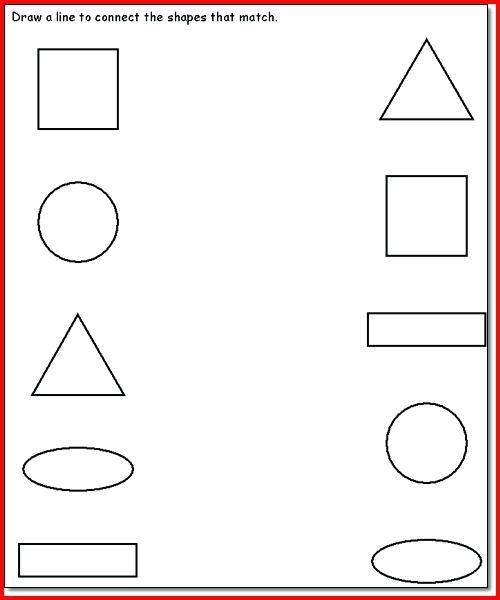 3 Year Old Preschool Worksheets Ts Age Preschooler Shapes Printable
