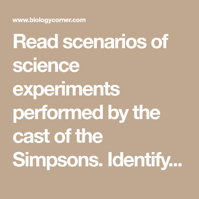 Read Scenarios Of Science Experiments Performed By The Cast Of The
