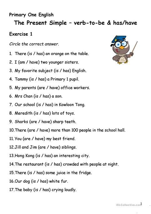 Resultado De Imagen Para Worksheet Verb To Have Present
