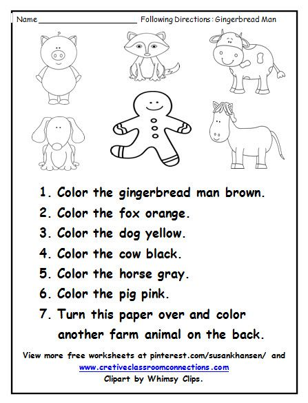 This Free Worksheet Provides Students With Practice Following