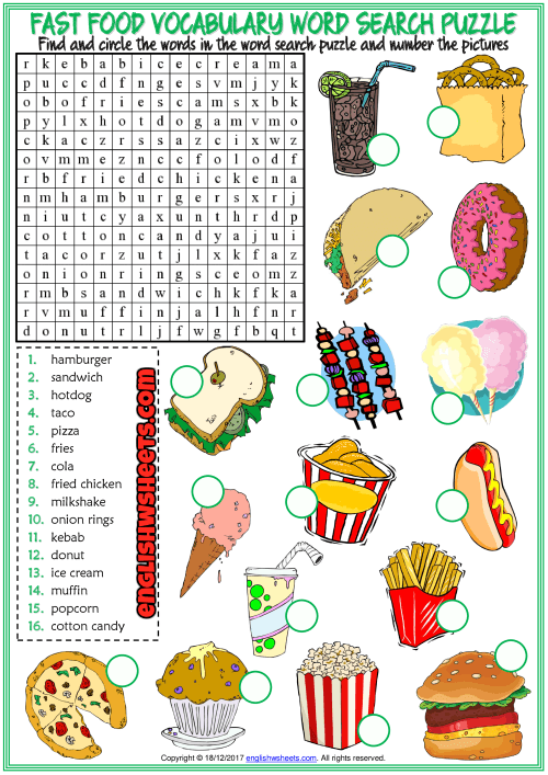 A Fun Esl Printable Word Search Puzzle Worksheet With Pictures For
