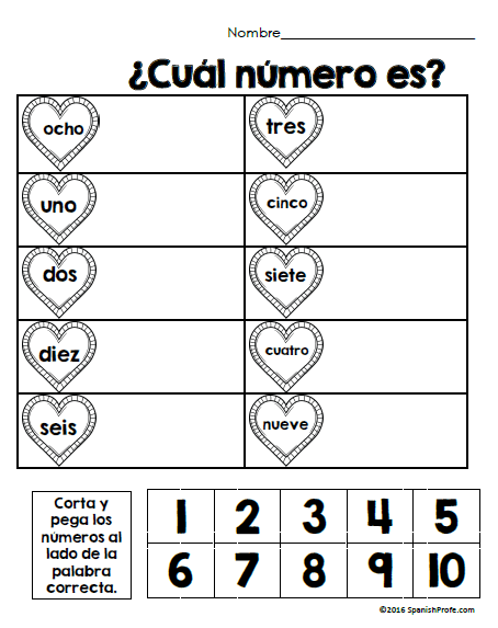 Free Bilingual February Math Worksheets