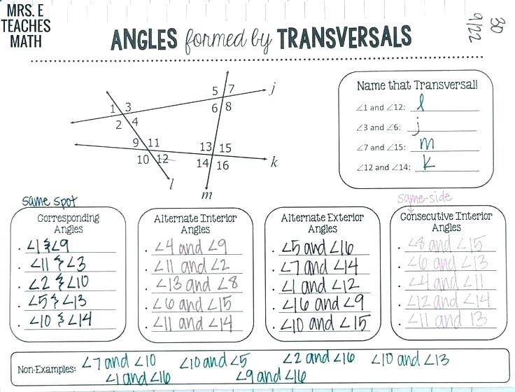 Angles On Parallel Lines Worksheets – Morningknits Com