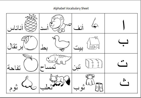 Arabic Alphabet Worksheets 11 001 » Printable Coloring Pages For Kids