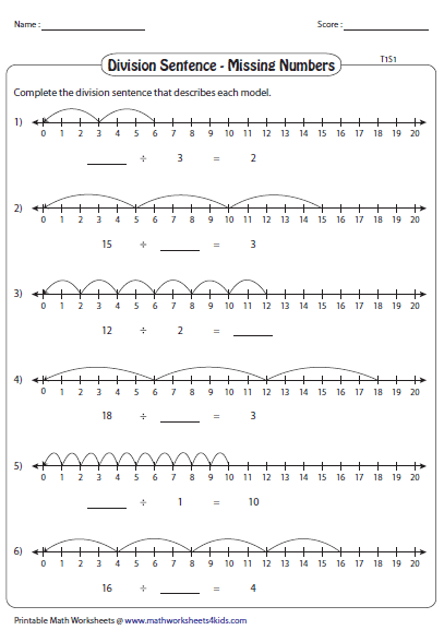 Fill In The Missing Numbers Using Number Line