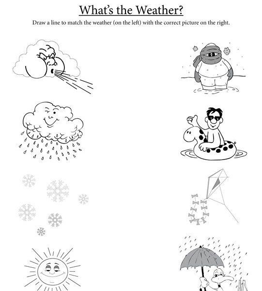 Weather Worksheets For Kindergarten