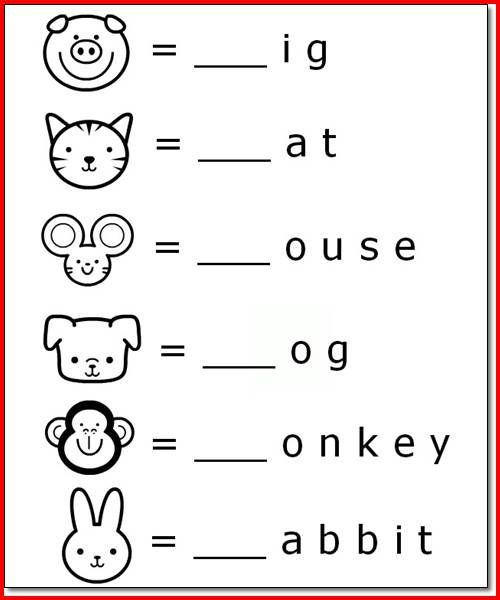 Printable Animal Name Activities For 5 Year Olds