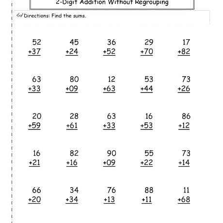First Grade Math Addition Worksheets