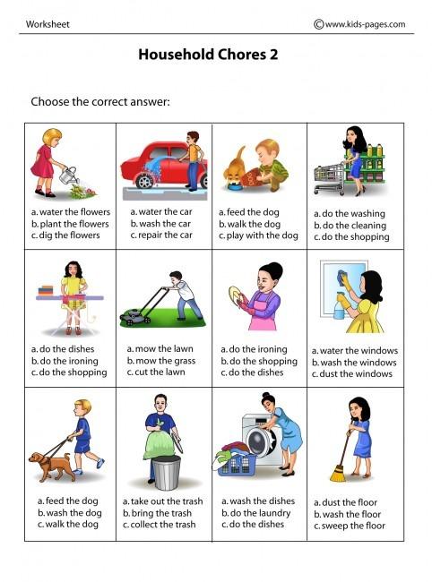 Household Chores 2 Worksheet