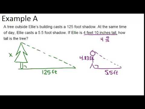 Indirect Measurement  Examples (geometry Concepts)