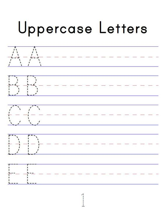 Alphabet Tracing Workbook Digital Printable Pdf Trace Abc