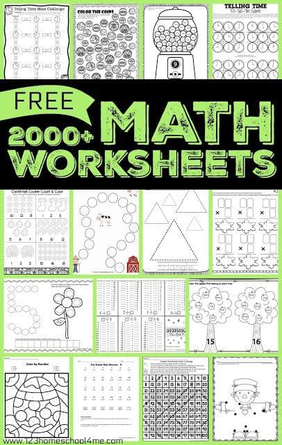 Math Worksheets & Games