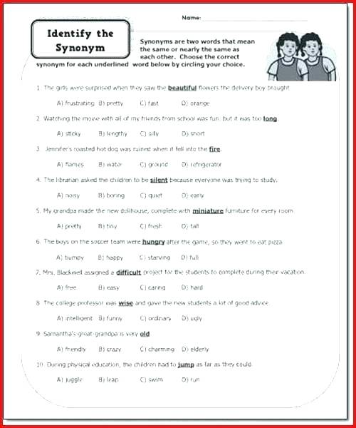 Parts Of Speech Practice Worksheets Transitive Verb Middle School