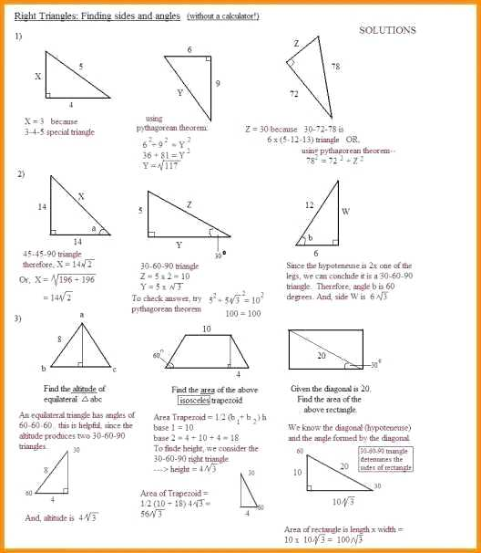 Right Angle Trigonometry Worksheet – Charleskalajian Com