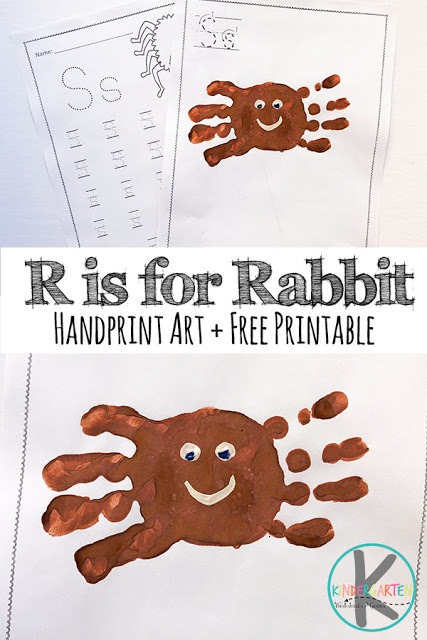 S Is For Spider Handprint Art – Kindergarten Worksheets And Games