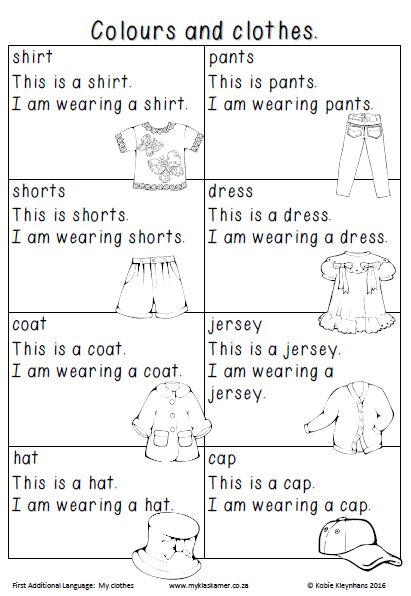 Worksheets English First Additional Language Grade 1 Term 1&2 » My