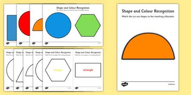 Shape And Colour Recognition Worksheet   Worksheet Pack