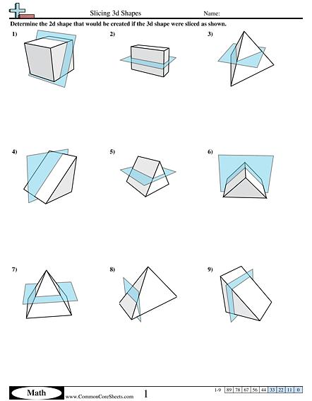 Slicing 3d Shapes