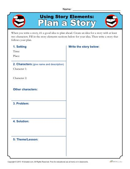 Using Story Elements  Plan A Story