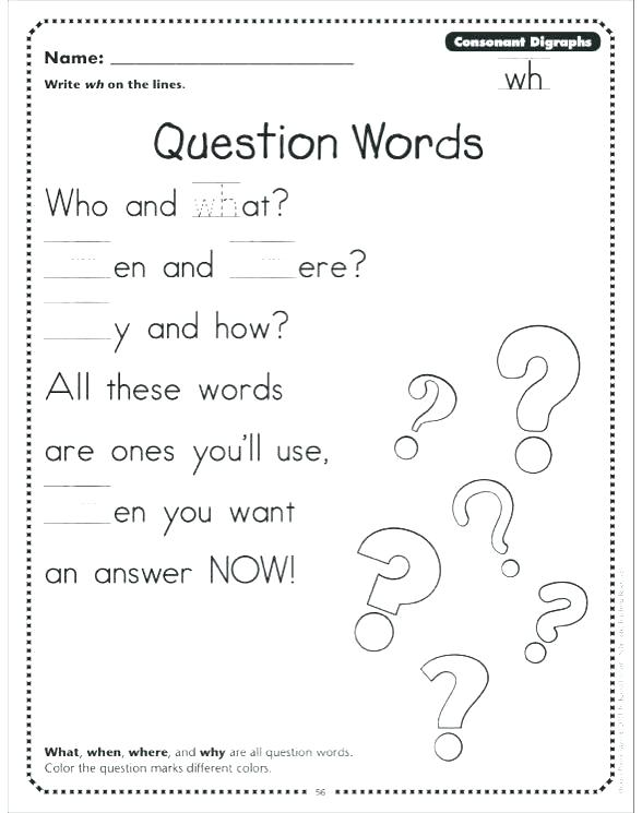 Wh Questions Worksheets Wh Questions Worksheets Esl