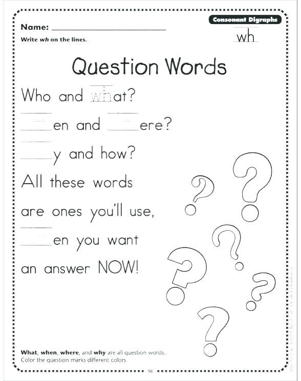Wh Questions Worksheets Wh Questions Worksheets Esl