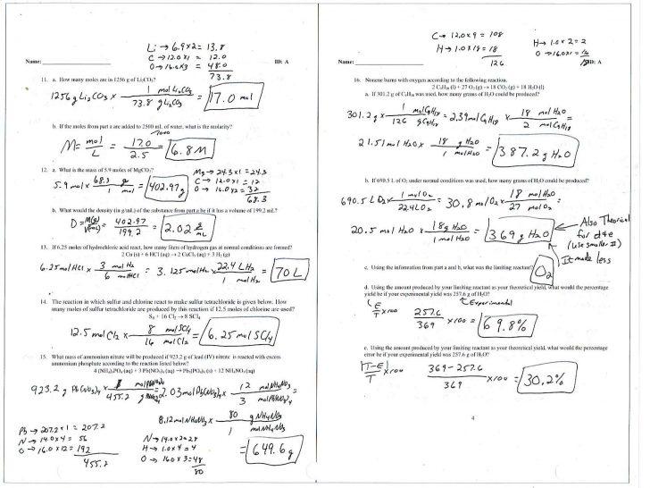 Worksheet Ideas ~ Worksheet Ideas Stoichiometry Photo