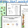Would Like To Worksheets